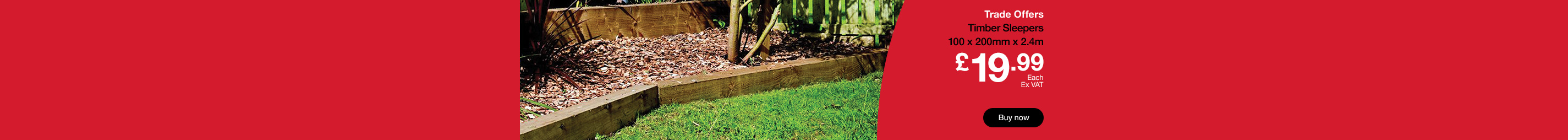 Timber Sleepers from £19.99