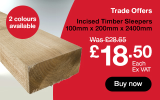 Timber Sleepers only £18.50 each