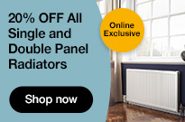 20% Off all Single and Double Panel Radiators