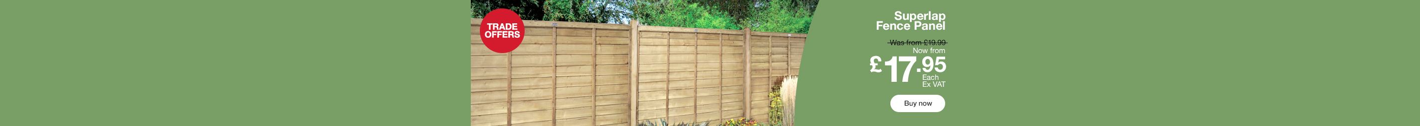 Fence Panel from £17.95